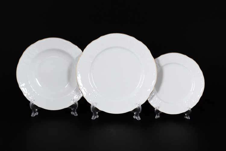Белый узор Е-М Набор Набор тарелок 18 пред. Jeremy