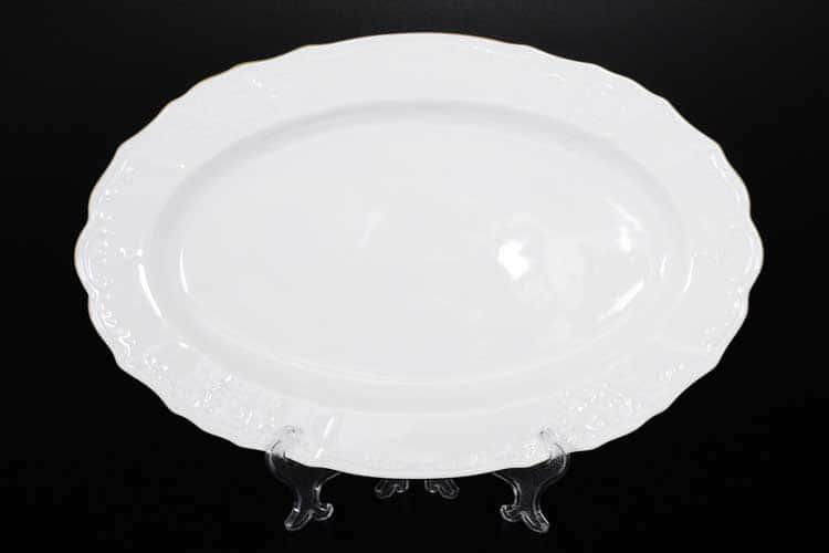 Белый узор Е-М Блюдо овальное 36 см Jeremy