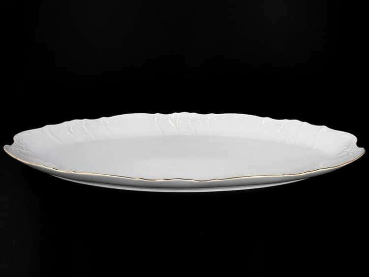 Белый узор Е-М Блюдо для рыбы 52 см Jeremy