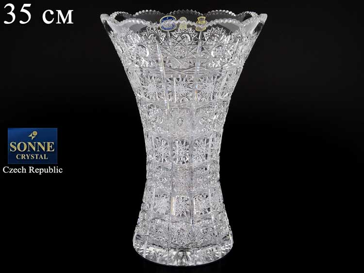 Sonne Crystal Ваза для цветов 35 см иксовка