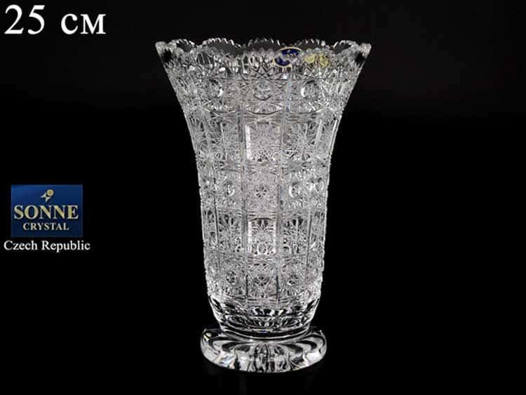 Sonne Crystal Ваза для цветов 25 см на ножке