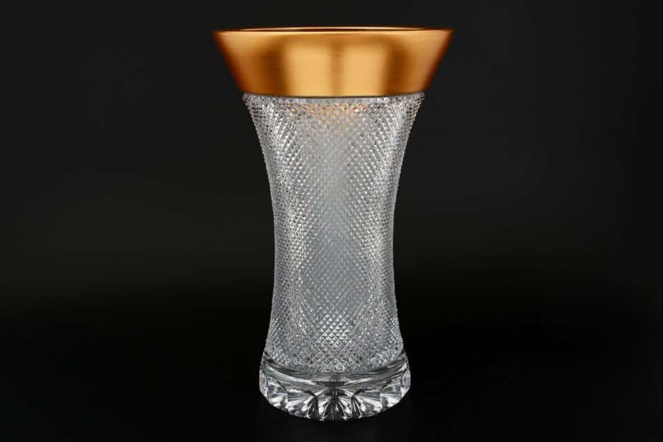 Фелиция Sonne Crystal Золото Ваза для цветов 35 см иксовка