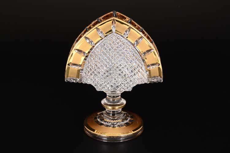 Золотые окошки Салфетница на ножке 14 см CRYSTAL HEART