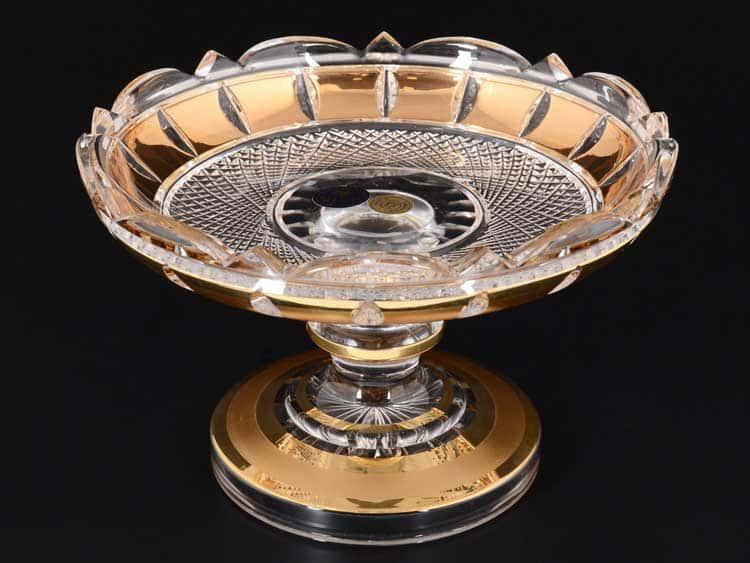 Фелиция Золотые окошки Ваза для конфет 15 см CRYSTAL HEART