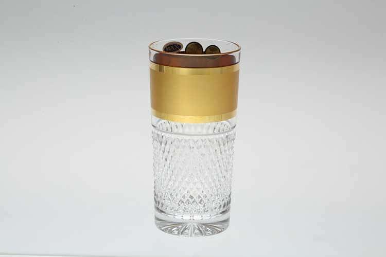 Фелиция Max Crystal Золото Набор стаканов для воды 350 мл