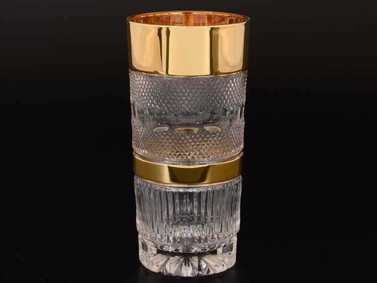 Felicia Max Crystal Золото Набор стаканов для воды 350 мл