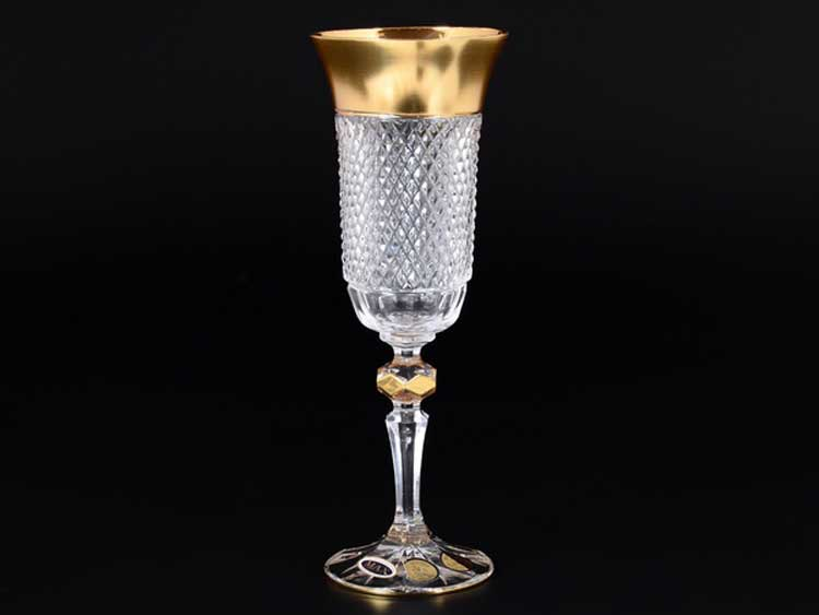 Felicia Max Crystal Золото Набор фужеров для шампанского 150 мл