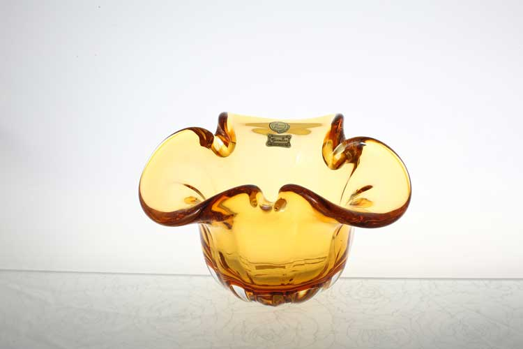 Егерманн желтая Ваза для конфет 20 см