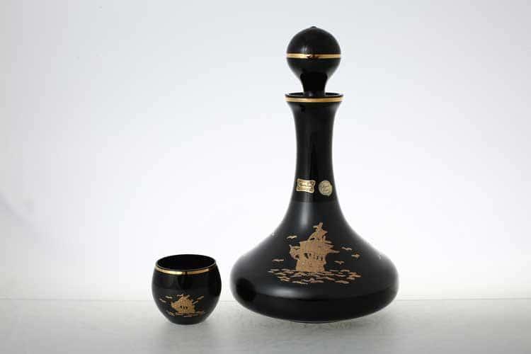 Егерманн черный Набор для вина 7 предметов
