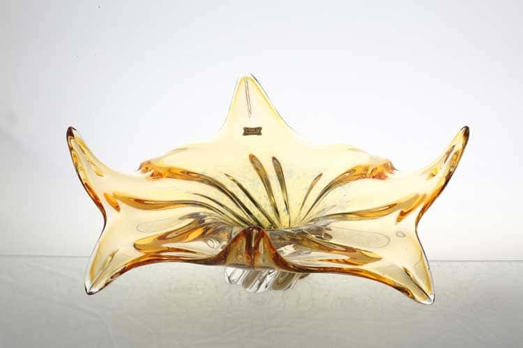 Егерманн желтая Ваза для конфет 38 см