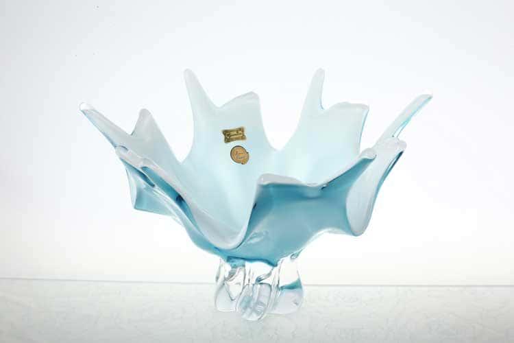 Егерманн голубая Ваза для конфет 28 см