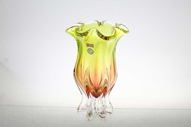 Егерманн желто-зеленая Ваза для цветов 30 см