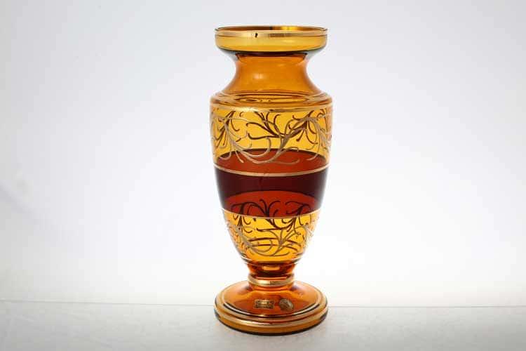 Егерманн узор медовая Ваза для цветов 30 см на ножке