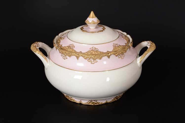 CATTIN розовый Супница с крышкой из фарфора