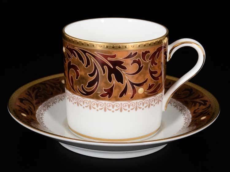 Ксавье золото Набор 6 кофейных чашек 110 мл с блюдцами Noritake
