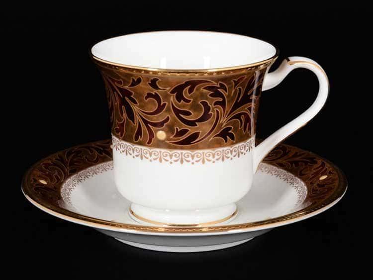 Ксавье золото Набор 6 чайных чашек с блюдцами Noritake