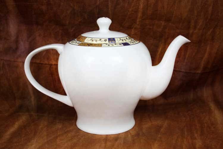 Золотая веточка Костяной фарфор АККУ чайник