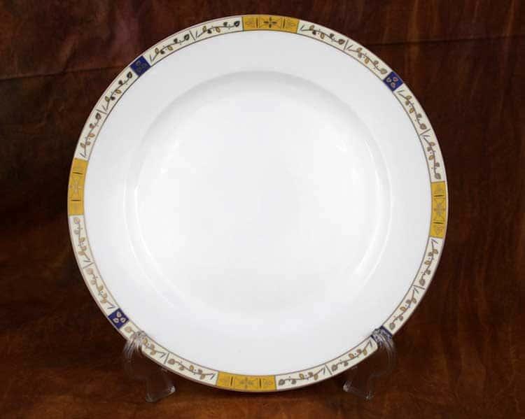 Золотая веточка Костяной фарфор АККУ тарелка закусочная