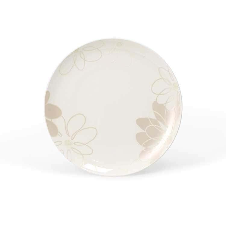 Магнолия Костяной фарфор АККУ тарелка круглая 21 см