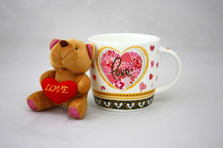 Love Набор кружка и мишка New Bone China 300 мл