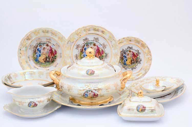 Мадонна Перламутр Столовый сервиз на 6 персон 27 предметов Sterne porcelan