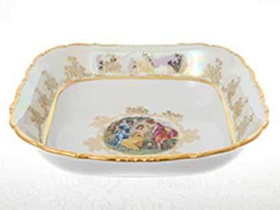 Мадонна Перламутр Салатник квадратный 25 см Sterne porcelan