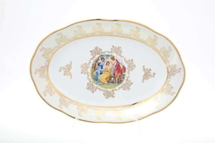 Мадонна Перламутр Блюдо овальное 33 см Sterne porcelan