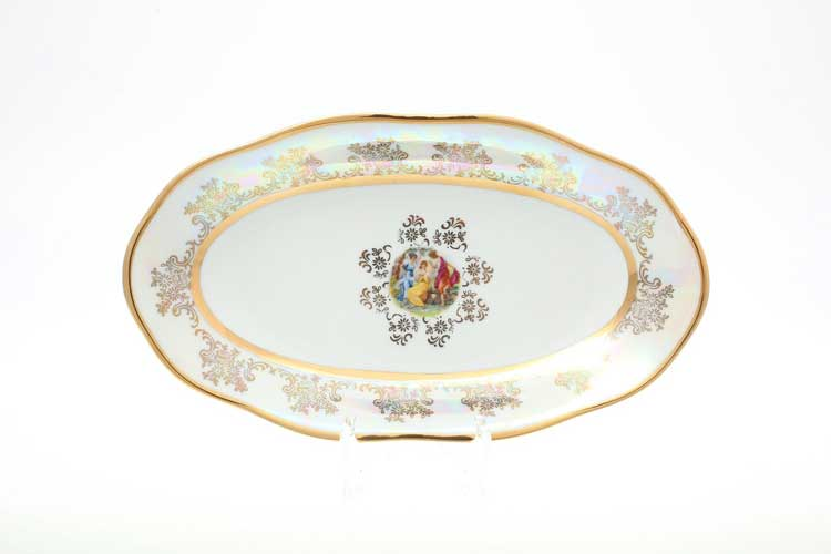 Мадонна Перламутр Блюдо овальное 24 см Sterne porcelan
