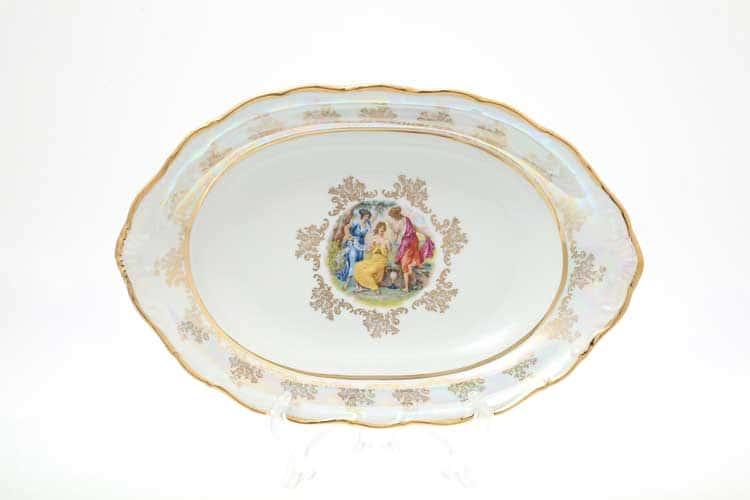 Мадонна Перламутр Блюдо для хлеба 36 см Sterne porcelan