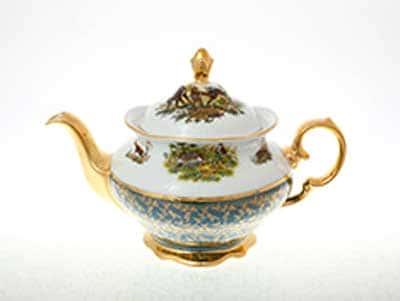 Охота Зеленая Чайник 1,2 л Sterne porcelan