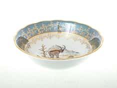 Охота Зеленая Салатник 23 см Sterne porcelan