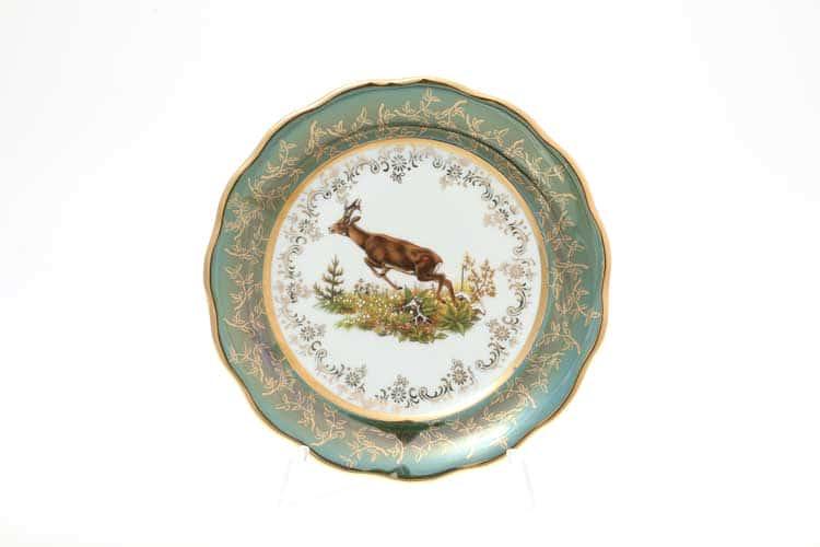 Охота Зеленая Набор тарелок 17 см Sterne porcelan
