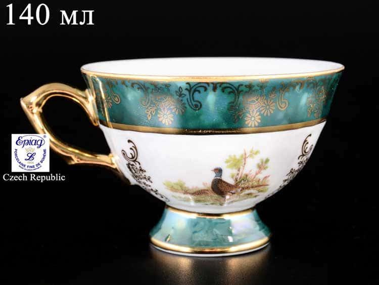 Охота Зеленая Чашка кофейная 140 мл Эпиаг