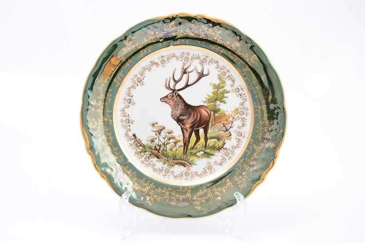 Охота Зеленая Набор тарелок 25 см Sterne porcelan