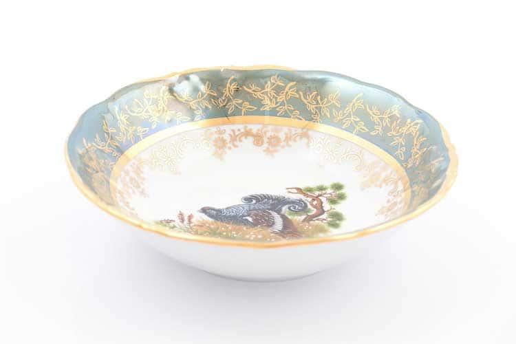 Охота Зеленая Набор салатников 16 см Sterne porcelan