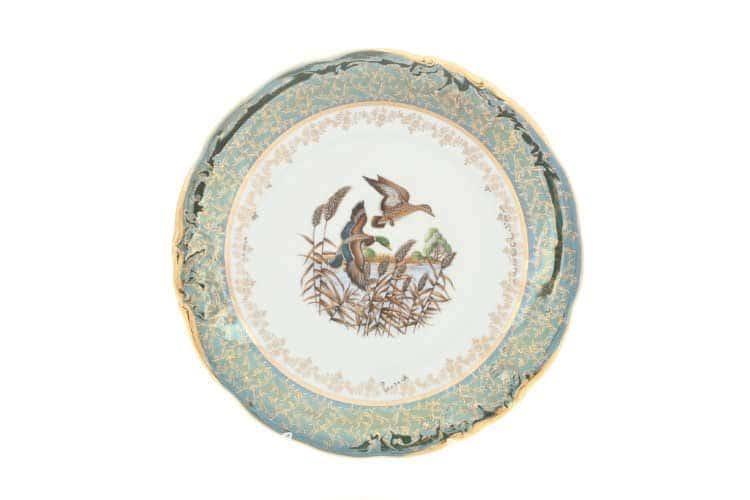 Охота Зеленая Блюдо круглое 30 см Sterne porcelan