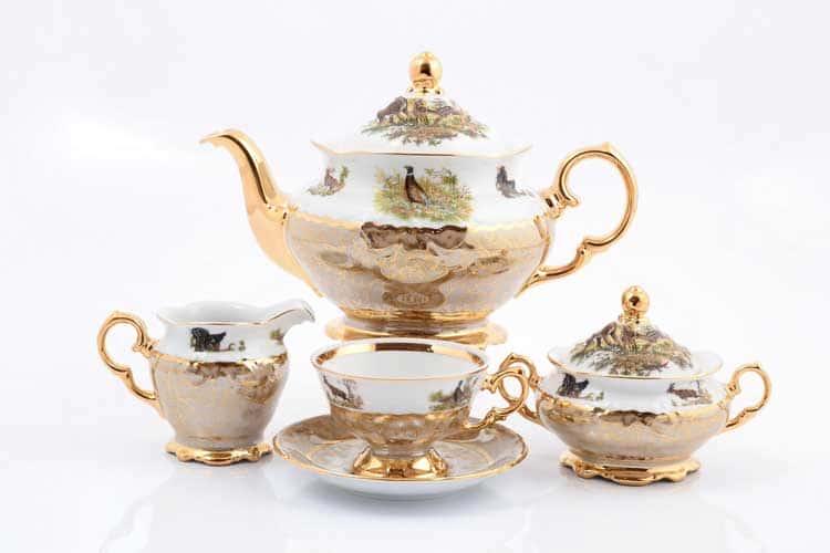 Охота Бежевая Чайный сервиз 17 предметов Sterne porcelán
