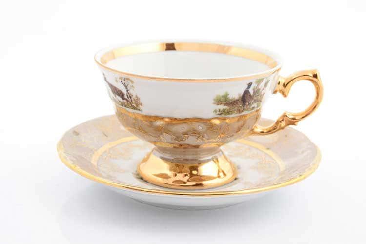Охота Бежевая Набор чайных пар 220 мл Sterne porcelán