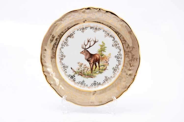 Охота Бежевая Набор тарелок 21 см Sterne porcelán