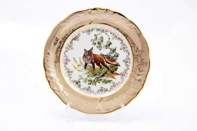 Охота Бежевая Набор тарелок 19 см Sterne porcelan