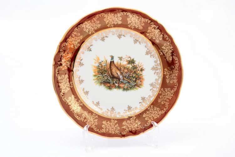 Охота красная Корона Набор тарелок QC 18 см