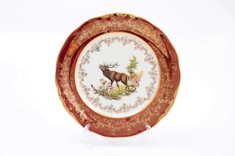 Охота Красная Набор тарелок 21 см Sterne porcelan