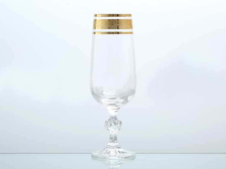 Клаудия Золото Набор фужеров для шампанского Bohemia Gold 180 мл (6 шт)
