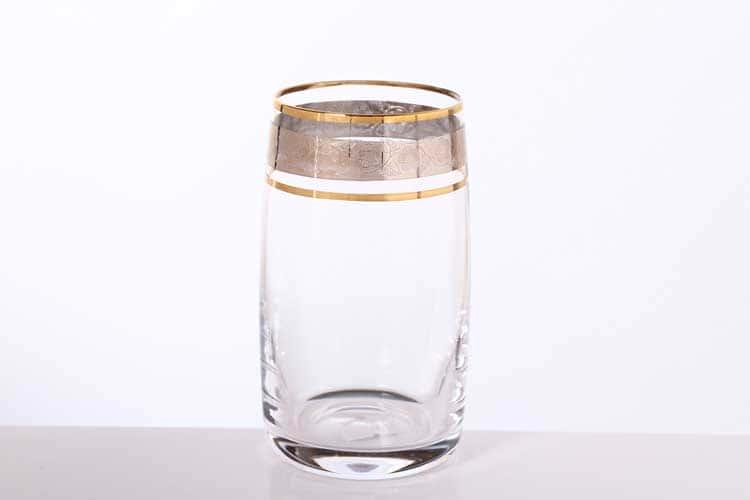 Идеал Панто Платина Набор стаканов для воды Bohemia Gold 250 мл (6 шт)