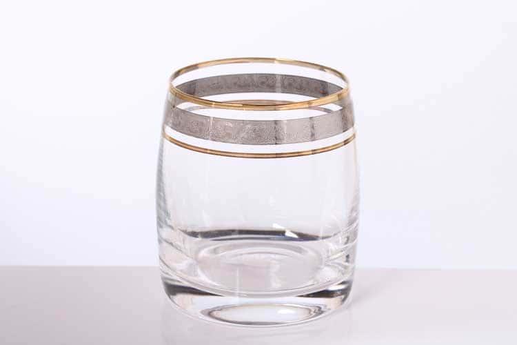 Идеал Панто Платина Набор стаканов для виски Bohemia Gold 230 мл (6 шт)