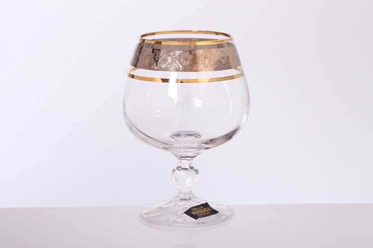 Клаудия Панто Платина Набор бокалов для бренди Bohemia Gold 250 мл (6 шт)