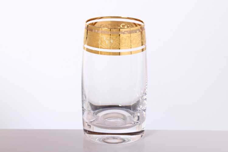 Идеал Золото Набор стаканов для воды Bohemia Gold 250 мл (6 шт)