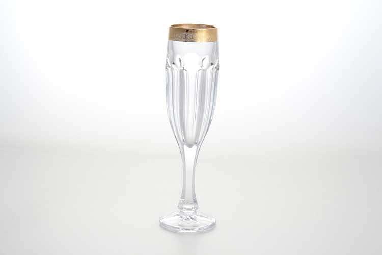 Сафари Набор фужеров для шампанского BOHEMIA GOLD 150 мл