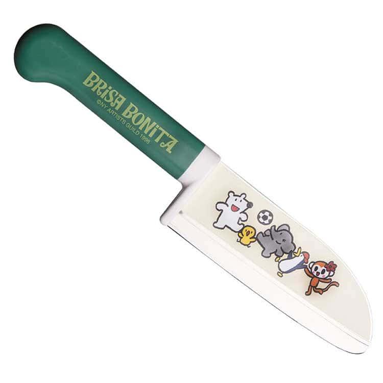 Brisa Bonita Нож детский овощной зелен.рукоять 11,5 см.