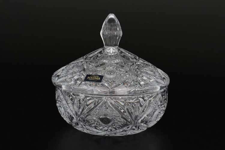 Миранда Нова Доза с крышкой Crystalite Bohemia 15 см.